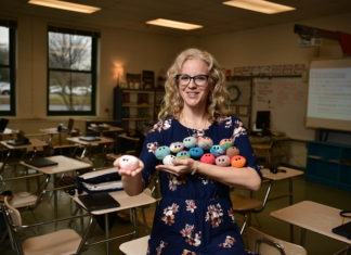 "MCPS teacher Maura Moore crochets ""meeps"" for her students and co-workers"