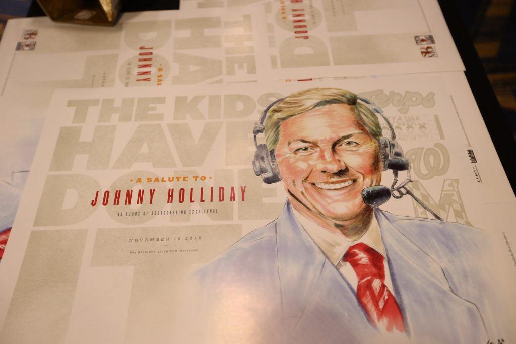 Johnny Holliday was honored for 41 years broadcasting University of Maryland sports