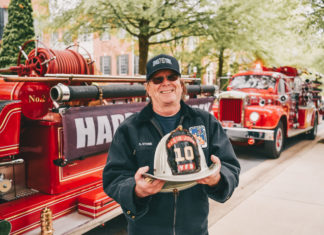 Cabin John Park's antique firetruck has been doing birthday drive-bys during COVID-19