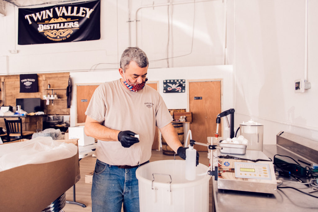 Exploring COVID-19's impact on Montgomery County businesses Twin Valley Distillers started making hand santizer