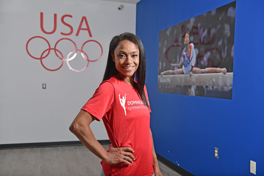 Olympic gold medalist Dominique Dawes in her new gymnastics studio