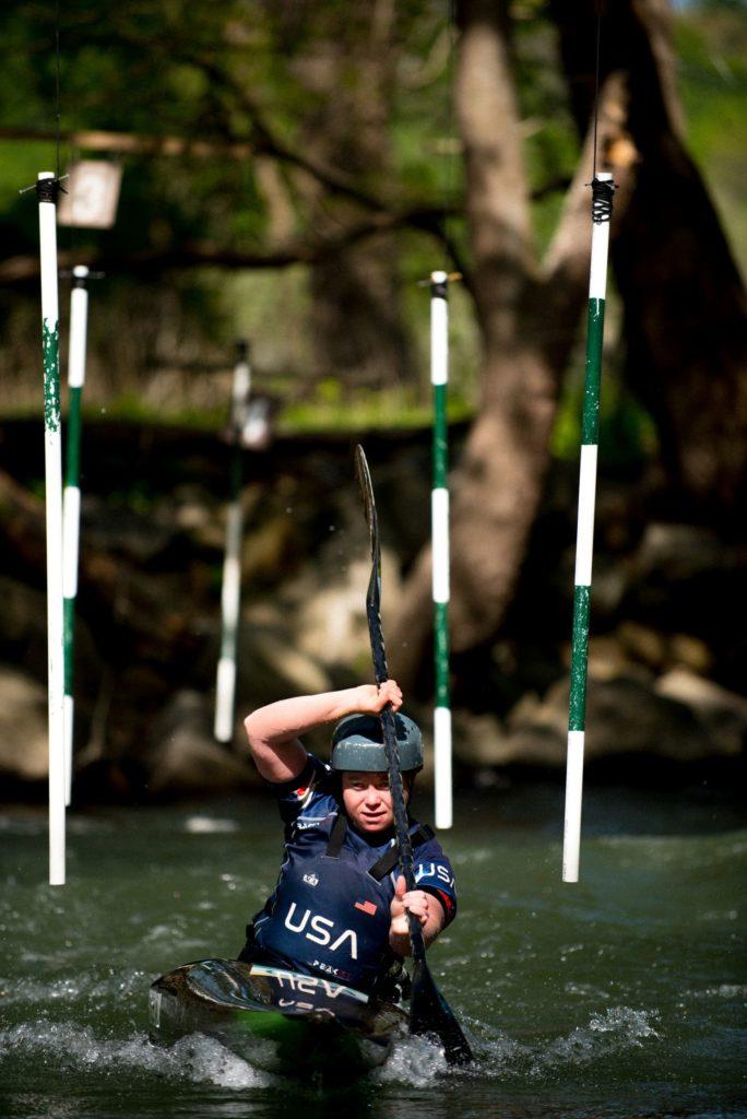 Ashley Nee kayaking on Potomac