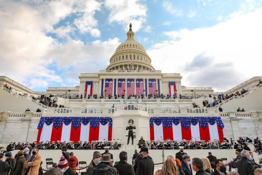 Col. Fettig conducts The Presidents Own U.S. Marine Band at Joe Biden's inauguration