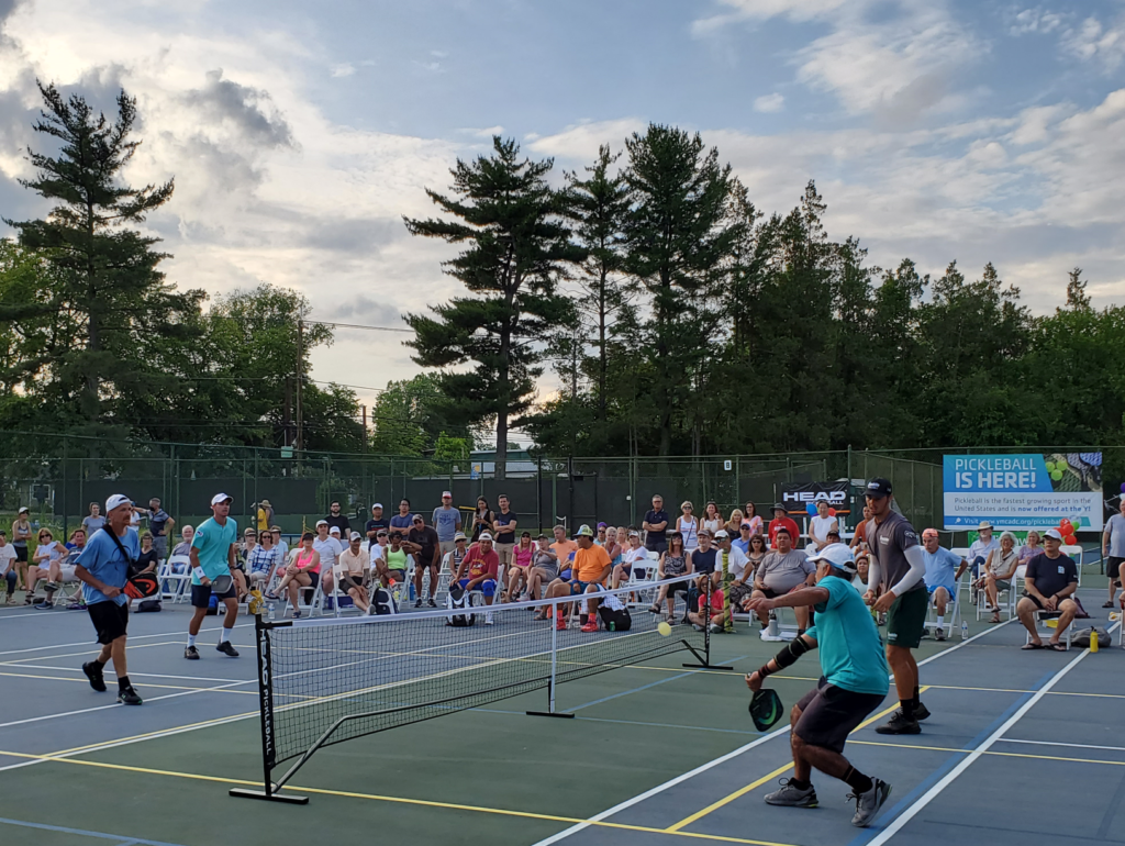 Pickleball exhibition at the YMCA of Bethesda