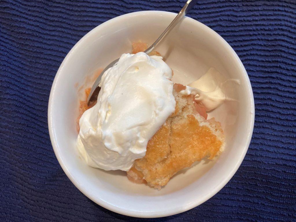 peach and plum baked dessert