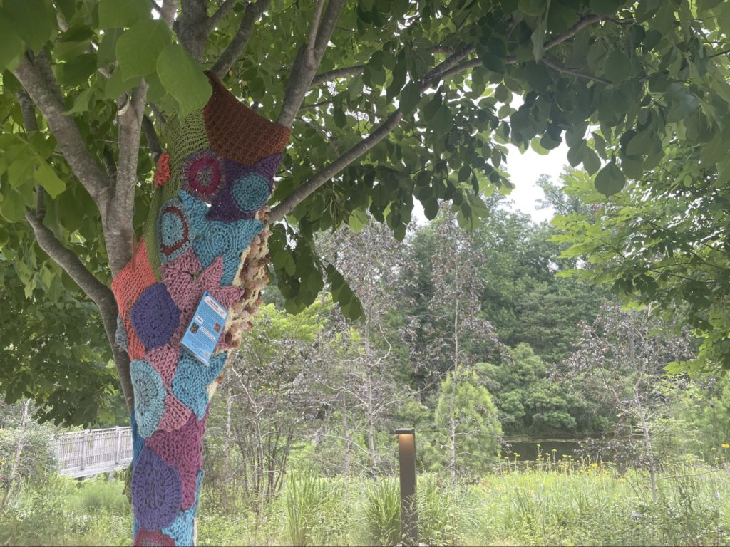 Wheaton Arts Parade Yarn Bombs at Brookeside Gardens